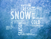 Winter season bright words cloud concept Royalty Free Stock Photos