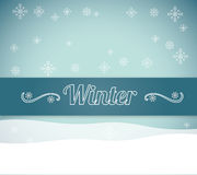 Winter season design Royalty Free Stock Photo
