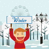 Winter season design Stock Photos
