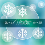 Winter season design Royalty Free Stock Images