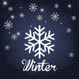 Winter season design Stock Image