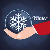 Winter season design Stock Photography