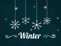 Winter season design Royalty Free Stock Image
