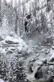 Winter season at falls royalty free stock photography