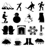 Winter season icons set Stock Image