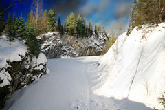 Winter Season on Marble Mt Royalty Free Stock Photo