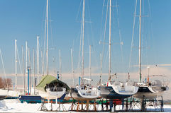 Winter season. Marina in Tallinn, Estonia Royalty Free Stock Photos