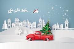 Winter season and merry christmas royalty free illustration