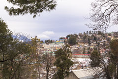 Winter season in Murree, Pakistan. This photo is taken in Murree, Pakistan. Murree is a colonial era town located on the Pir Panjal Range within the Murree royalty free stock images