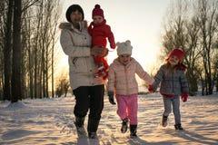 Winter Season. Playing. Stock Photos