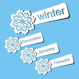 Winter season stickers Stock Images