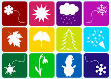 Winter season symbols Royalty Free Stock Photography