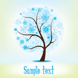 Winter season tree  illustration Royalty Free Stock Image