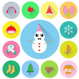 Winter season vector set. Winter season vector,flat design with long shadow Stock Photography