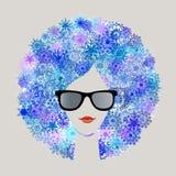 Winter season woman. Graphic design winter season woman (see series for all seasons vector illustration