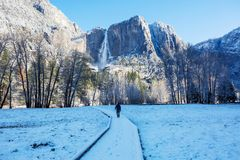 Winter in Yosemite stock photo