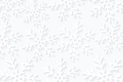 Winter seasonal background. Snowflakes cut out of paper. Merry Christmas and Happy New Year. Template for your design. Vector illu. Stration. EPS 10 vector illustration