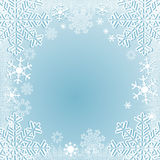 Winter seasonal Background with Snowflakes Stock Photography