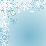 Winter seasonal Background with Snowflakes. Stock Photos