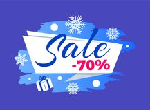 Winter Seasonal Sale Advert Vector Illustration Royalty Free Stock Photography