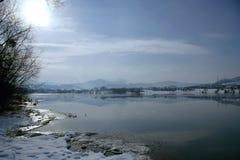 Winter See Lizenzfreie Stockbilder