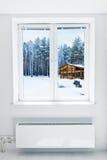 Winter  seen through the window Stock Photography