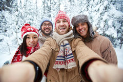 Winter selfie Stock Image