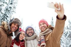 Winter selfie Royalty Free Stock Photography