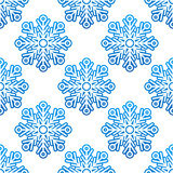 Winter semless pattern with blue Stock Image