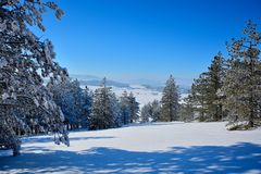 Winter in Serbien Zlatibor 2017 Lizenzfreie Stockfotos