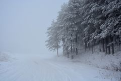 Winter in Serbien Zlatibor 2017 Stockfotos