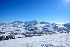 Winter in Serbien Zlatibor 2017 Stockfotografie