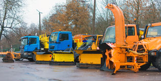 Winter service vehicles. Royalty Free Stock Image