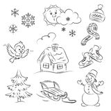 Winter Set Royalty Free Stock Image