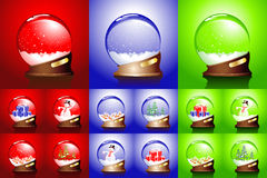 Winter set of glass balls Royalty Free Stock Photo