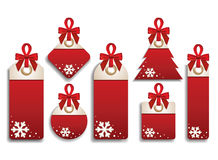 Winter Set of Sales Tags Stock Photos