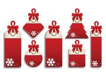 Winter Set of Sales Tags Stock Photos