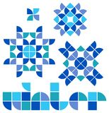 Mosaic Winter Set/eps Stock Images