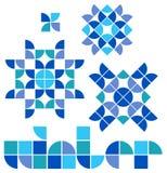 Mosaic Winter Set/eps stock images