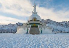Winter Shanti Stupa Royalty Free Stock Photo
