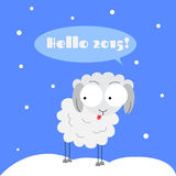 Winter sheep. Flat illustration of vinter sheep Royalty Free Stock Photos