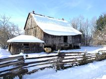 Winter shelter stock image