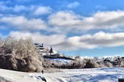 Winter in Sherbrooke. Sherbrooke Landscape during the December 2013 Days of Glazed Frost Royalty Free Stock Photography