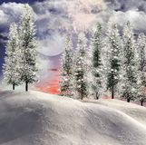 Winter shining background vector illustration