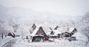 Winter at Shirakawa-go village in Gifu, Japan Stock Images