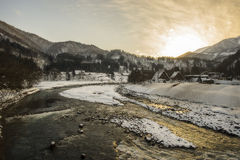 Winter in Shirakawago Stock Image