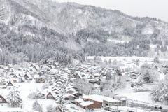 Winter Shirakawago Stock Image