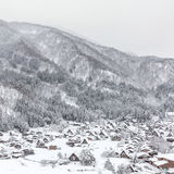 Winter Shirakawago Royalty Free Stock Image