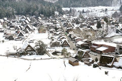 Winter Shirakawago with Snowfall Gifu Chubu Japan Royalty Free Stock Photo