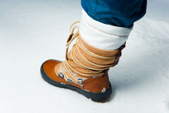 Winter shoe in snow Stock Images